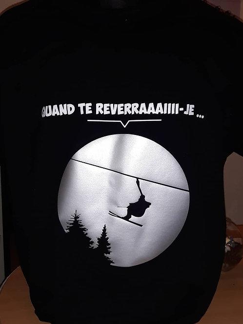 """Tee-shirt """"Quand te reverrai-je..."""""""