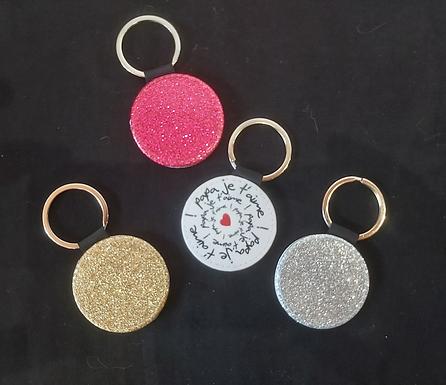 Porte-clé Cuir dos glitter