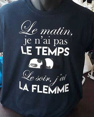 "Tee-shirt ""La flemme"""