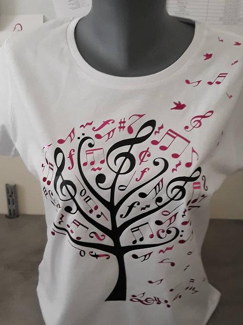 "Tee-shirt ""arbre musical"""