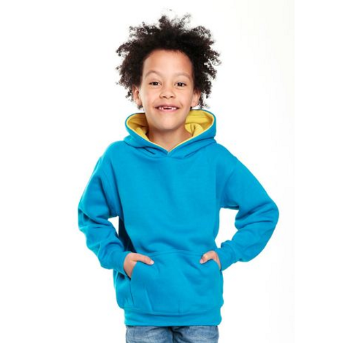 Sweat Capuche contrasté Enfant 310 COTTONRIDGE
