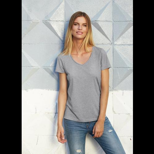 T-shirt Femme Col V Tri-blend 130 TW058 B&C