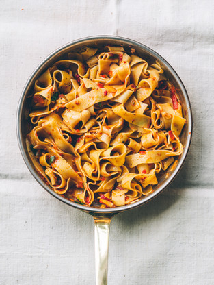 Sweet Tomato and Carrot Parpadelle