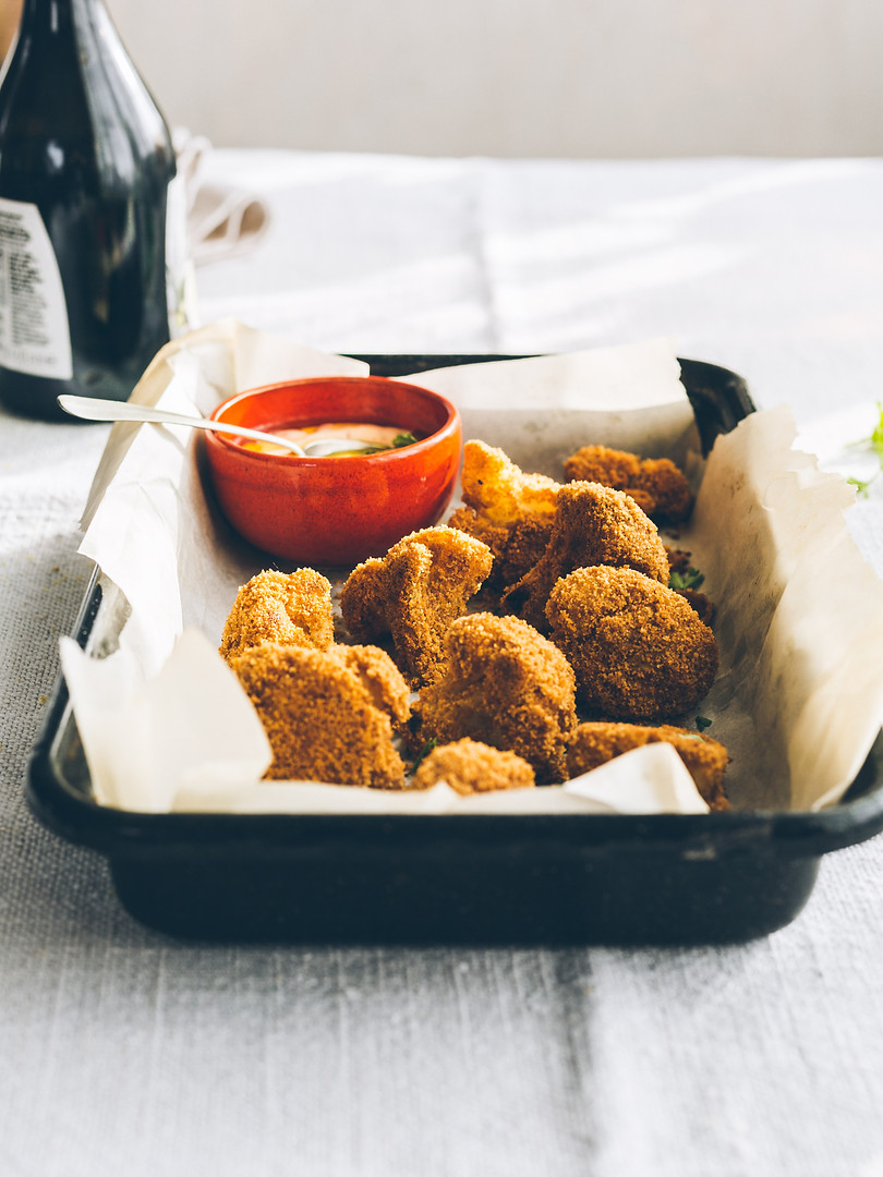 Crispy vegan cauliflower wings