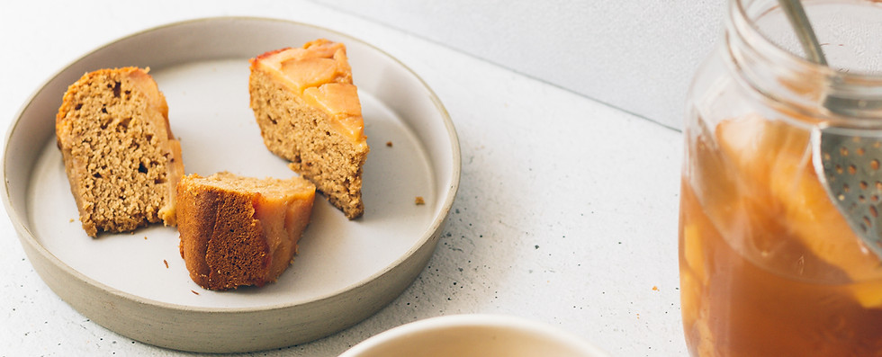 Ginger & Vanilla Upside Down Quince Cake