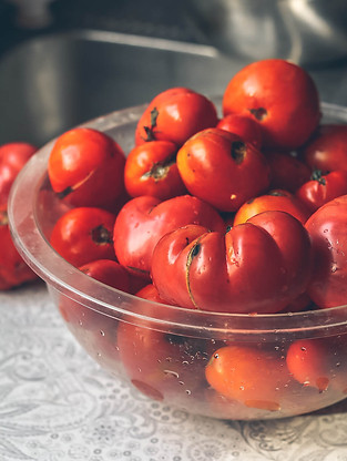 July: preserving tomatoes