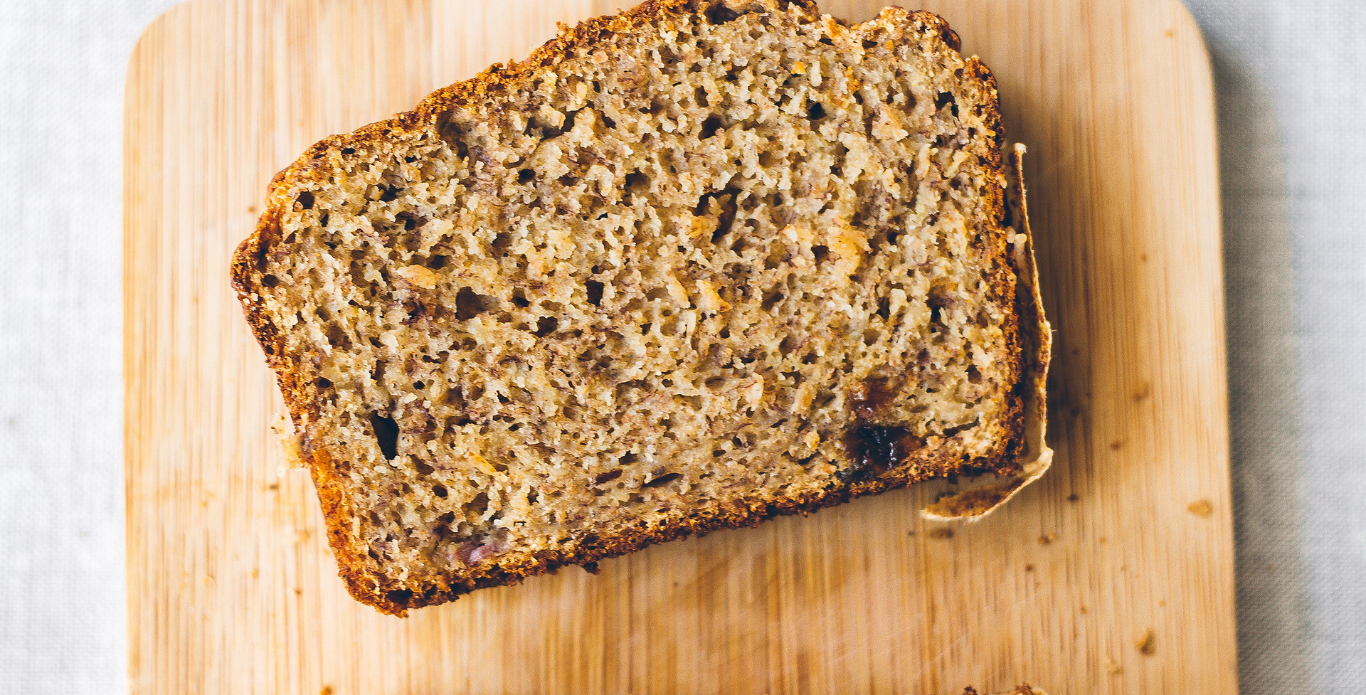 Vegan banana bread w/ raisins, rum, and orange