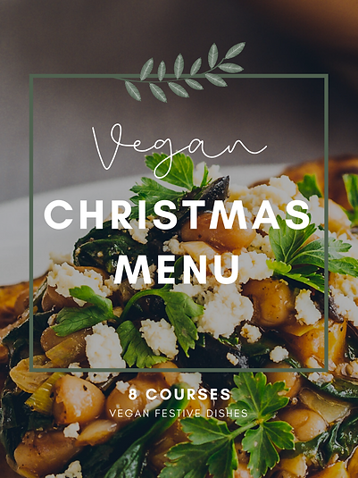 8 Courses Vegan Christmas Menu