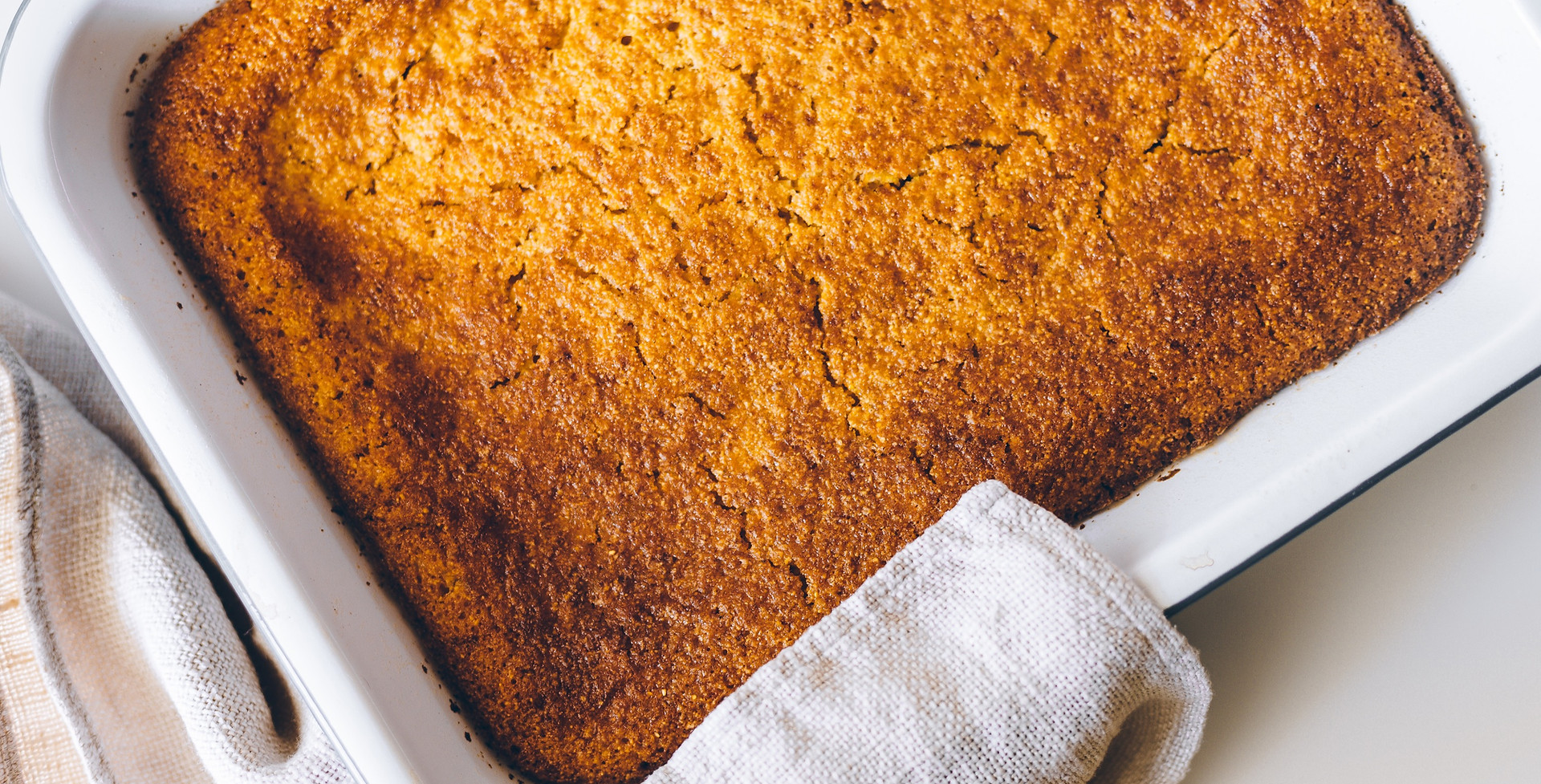 Sweet lemon and rum cornbread