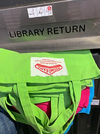 Great, bright bags for the Library