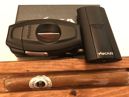 Black Xikar VX2 Cigar Cutter and Flash Cigar Lighter