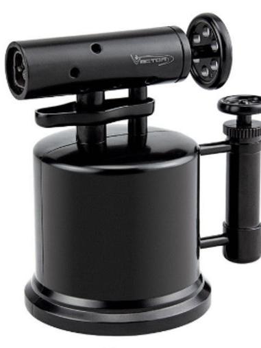 Vector Quad Pump Table Top Lighter Black