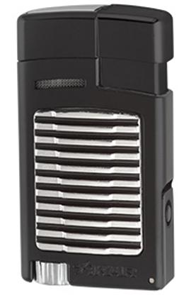 Xikar Forte Single Jet Flame Lighter with Punch Black