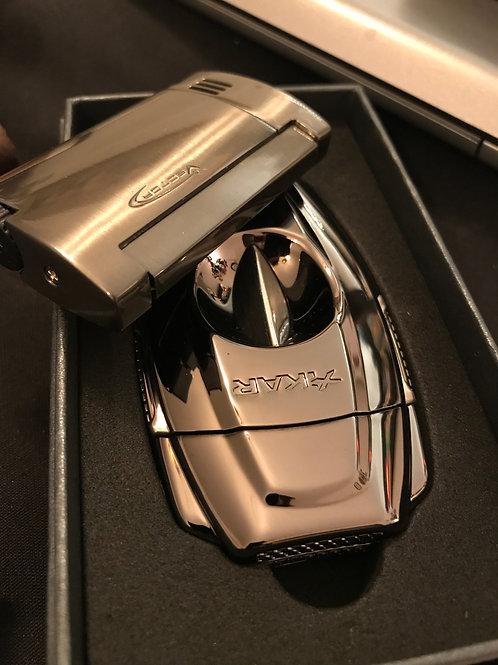 Xikar VX2 Gunmetal V Cigar Cutter & Vector Magnum Cigar Lighter