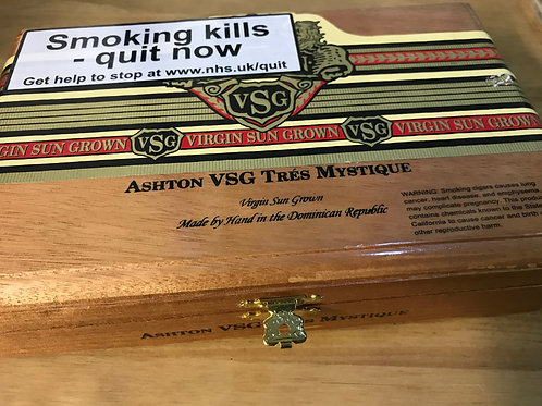 Ashton Tres Mystique Empty Cigar Box