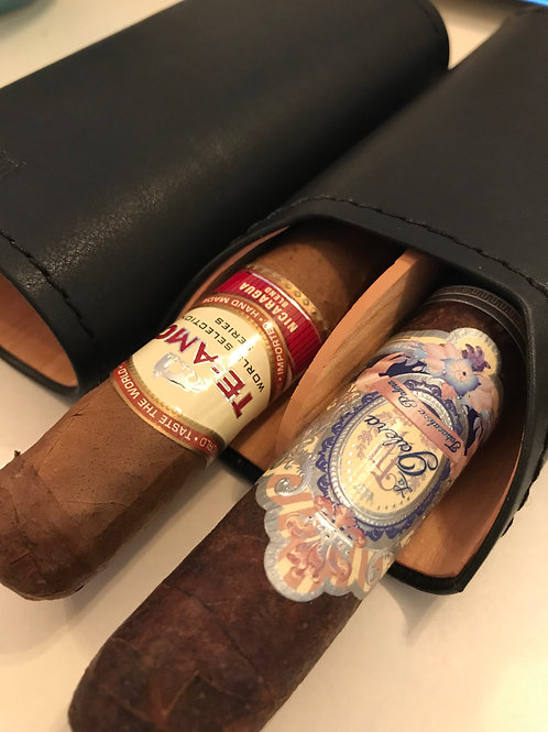 Adorini 2 Cigar Case With La Galera & Te-Amo Cigars Sampler