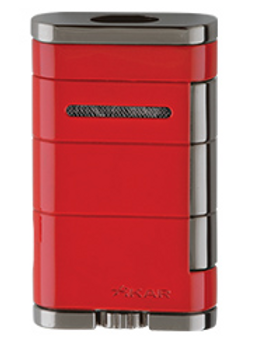 Xikar Allume Double Jet Flame Lighter Red