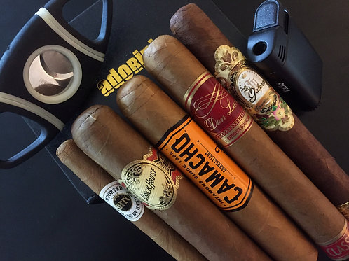 5 Cigars Sampler With Lighter And Cutter Perfect For New Smokers