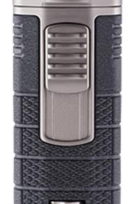 Xikar Tactical III Triple Jet Flame Cigar Lighter Black & Gunmetal