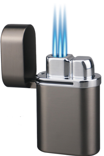 Vector Thundra Triple Jet Flame Table Top Cigar Lighter Gun Metal