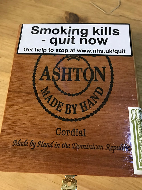 Ashton Cordial Empty Cigar Box