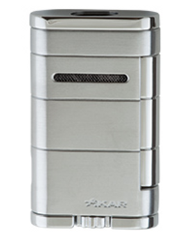 Xikar Allume Double Jet Flame Lighter Silver