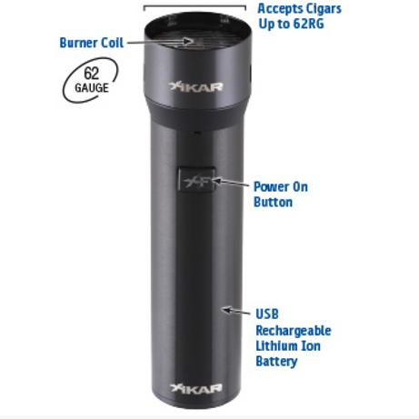 Xikar XFlame USB / Electronic Cigar Lighter