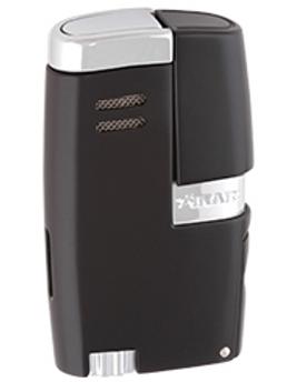 Xikar Vitara Double Jet Flame Lighter With Punch Black