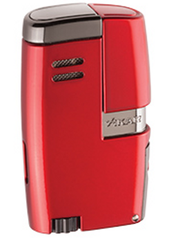 Xikar Vitara Double Jet Flame Lighter With Punch Red