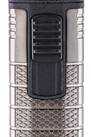 Xikar Tactical III Triple Jet Flame Cigar Lighter Gunmetal & Black