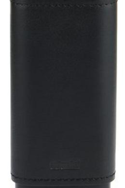 Adorini Black Leather Cigar Case 2 or 3ct