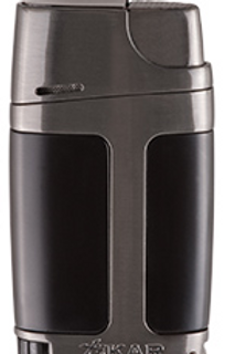 Xikar ELX Double Jet Flame Cigar Lighter With Punch Gray