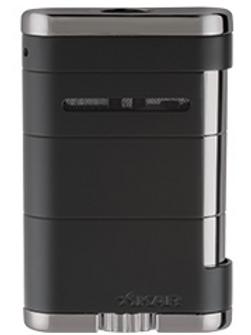 Xikar Allume Triple Jet Flame Tabletop Lighter Black