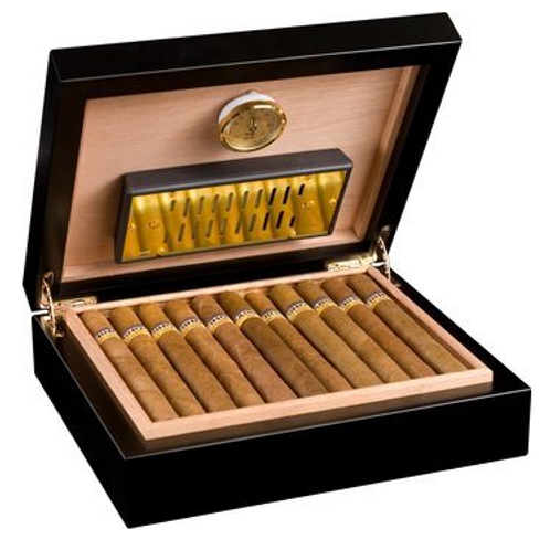 Adorini Torino Deluxe Cigar Humidor Black 30ct