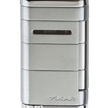 Xikar Allume Single Jet Flame Cigar Lighter Silver