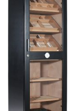 Adorini Roma Humidor Cabinet Black - with electronic humidification system