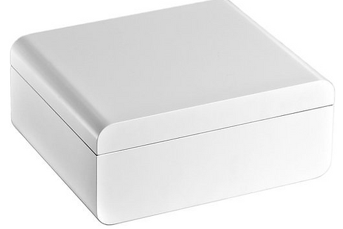 Adorini Carrara Cigar Humidor In White 68ct