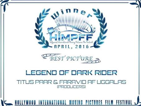 The Pilot (Short) of Legend of Dark Rider won awards in Hollywood
