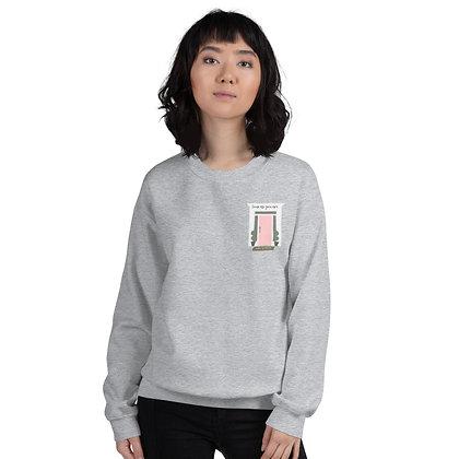 Come as You Are Printed Sweatshirt - Pink Door Design