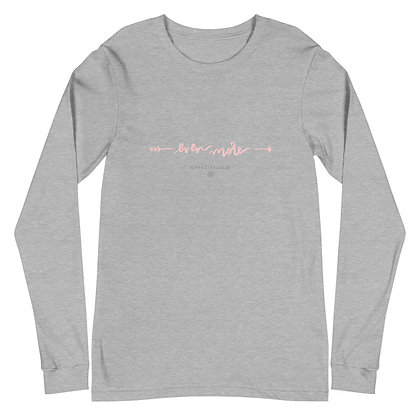 God Is My Even More >> Long Sleeve Tee Pink Text