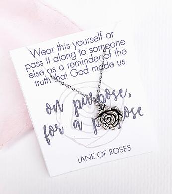 Purpose Rose Necklace