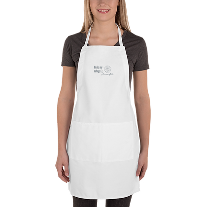 God is My Refuge Embroidered Apron