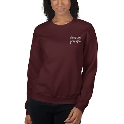 Come As You Are Embroidered Sweatshirt