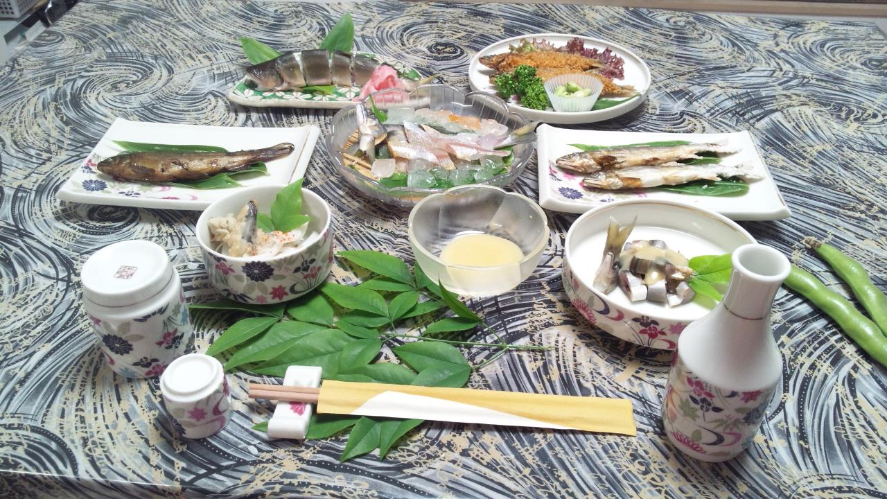 天然鮎の『鮎懐石料理』