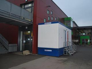 Wasserschadenbeseitigung in einer Schule