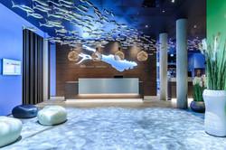 Hotelempfang wasserblau ibis styles
