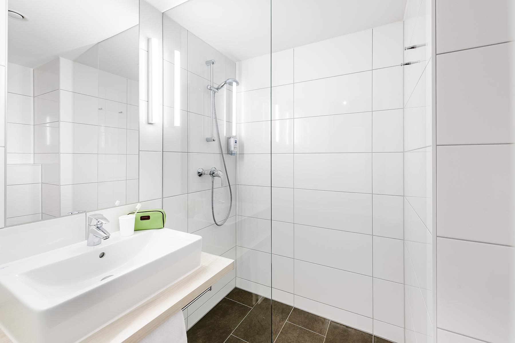 Badezimmer im Twin Bed Zimmer
