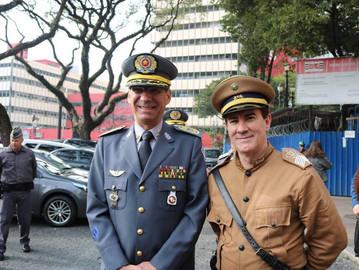 Em juri simulado, Coronel Camilo comanda a Força Pública paulista
