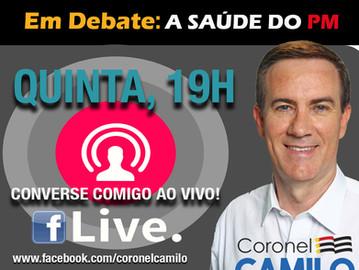 "No Facebook, ""Coronel Camilo LIVE"" passa a ter temas específicos"