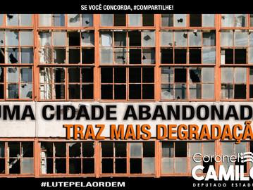 Coronel Camilo fará palestra sobre desordem urbana na Assembleia Legislativa